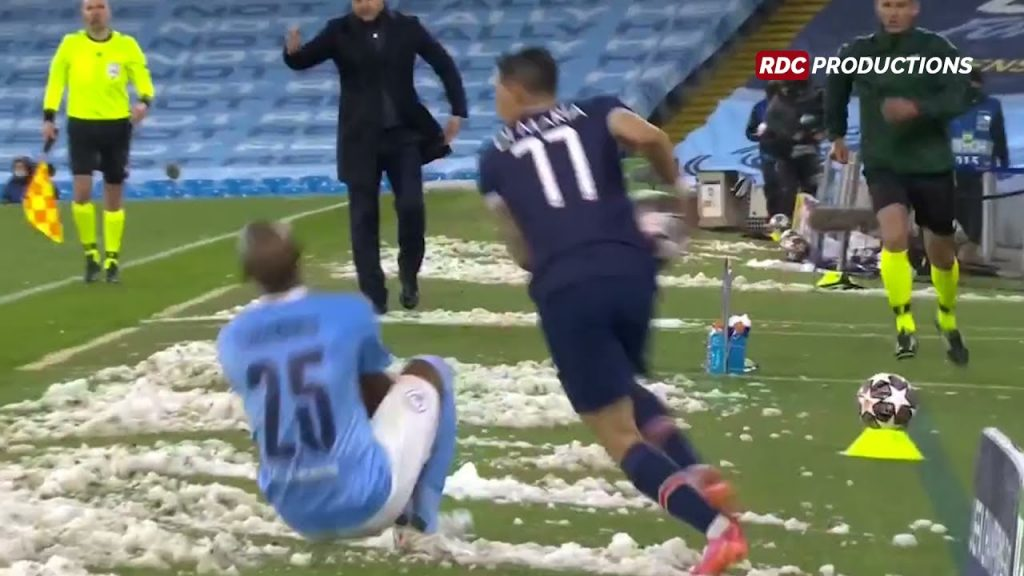 Ángel Di María Red Card VS Manchester City in UCL Semi-Finals